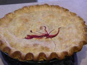 Red Raspberry Grape Pie
