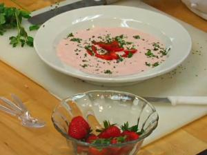 Strawberry And Mint Soup