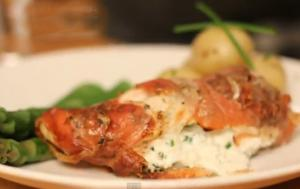 Stuffed Chicken Wrapped in Parma Ham
