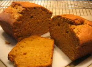 Holiday Pumpkin Loaf With Cream Cheese