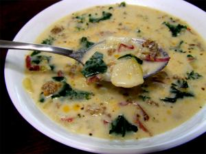 Spicy Kale and Sausage Soup