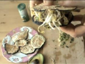 Raw Eggplant Bread Sandwich, Ep 164