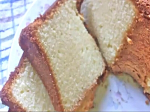 Grandma's Cream Cheese Pound Cake