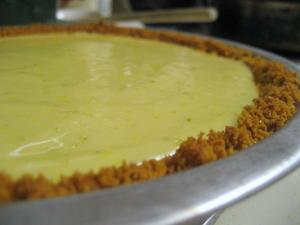 Lime Chiffon Banana Pie