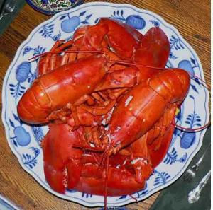 Boiled Live Lobsters