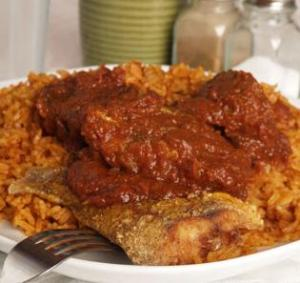 Jollof rice and Yassa Chicken are authentic Kwanzaa dishes.