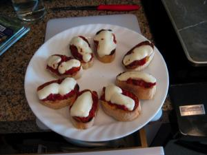 Bread With Mozzarella And Tomato Topping