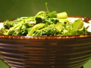Peas and Lettuce Saute