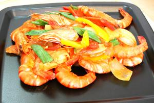 Sauteed Sweet and Sour Shrimps