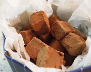 Valentine's Chocolate Truffle Cubes