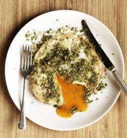 Mark Hix's Easy Over Goose Egg with Caper and Lemon Crust
