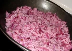 Pulao - Rice with Red Cabbage