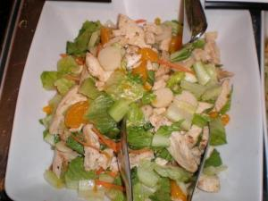 Duckling Salad with Ginger Dressing
