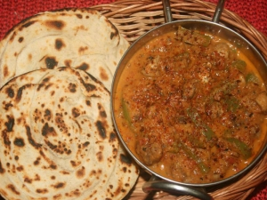 Spicy Capsicum and Mushroom Curry