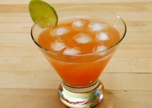 Peach and Orange Cocktail