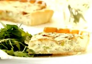 Stilton and Leek Tart