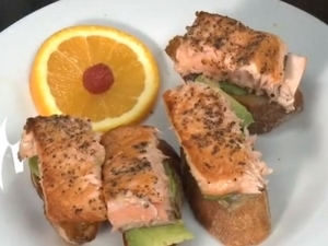 Salmon and Avocado Sandwich