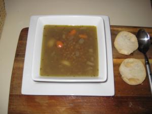 Green Lentil Soup