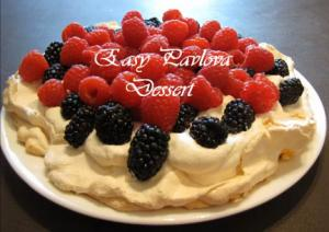 Berry Topped Pavlova