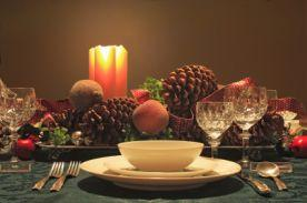 Experiment with colors and textures for your holiday table setting.