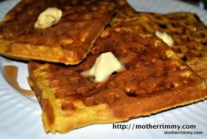 Light and Healthy Pumpkin and Orange Waffles