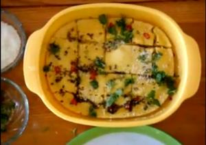 Three Minute Microwave Dhokla