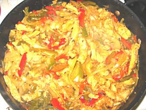 Chicken Fajita Potato in Rice Cooker