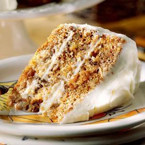 Carrot Raisin Cake With Irish Cream Frosting
