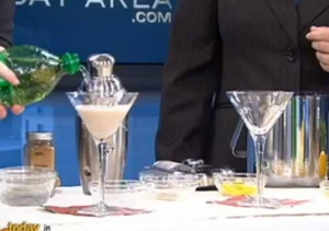 Healthy Beauty Cocktail And Eggnog Fizz Martini