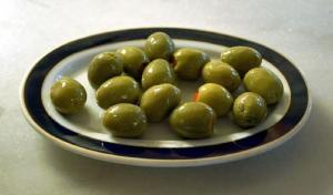 Stuffed Olives Baked In Pastry