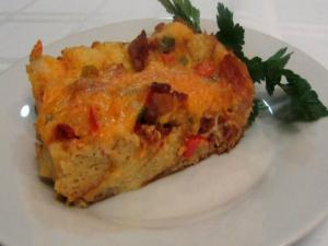 Bacon & Cheddar Strata -- Lynn's Easter Brunch