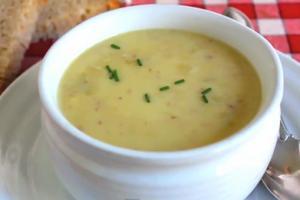 Cream Of Potato And Green Garlic Soup