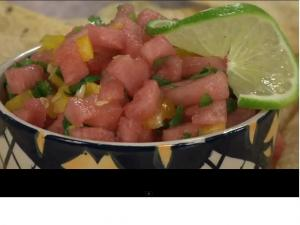 Jalapeño-Watermelon Fire and Ice Salsa