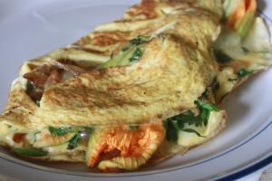 Squash Blossom Omelet : Part 3 - Serving