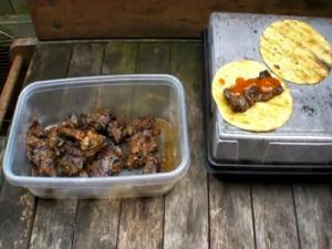 Sapothon Style Grilled Fajitas on the Solaire Infrared Portable Anywhere Grill