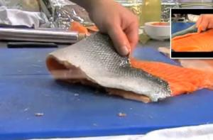 How to Remove The Skin from a Fillet of Fresh Salmon