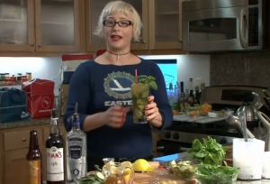 Flighty Mary Ann With Ginger Cocktail