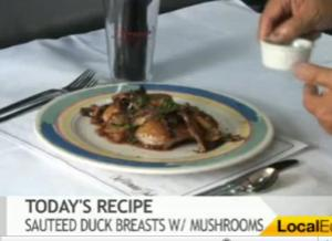 Tasty Duck Breasts With Wild Mushrooms