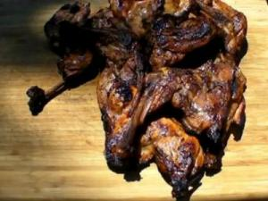 Grilled Chicken Split Leg Quarters with Cookwell & Comapny's Fin and Feathers