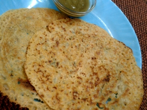 Ajwain Flavored Wheat and Rice Chilla