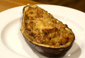 Eggplant Stuffed With Scamorza Cheese