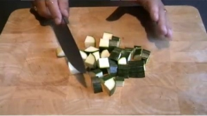 How to Dice Courgettes