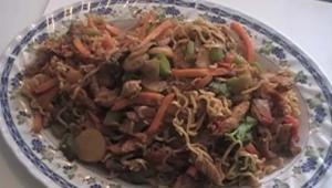 Stir Fried Noodles with Pork