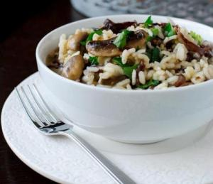 Champagne and Mushroom Risotto