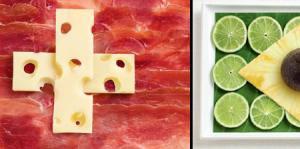Food Flags - food art!!