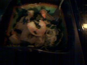 Shirataki Noodles and Shrimp