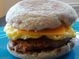 Make Ahead: Turkey Sausage and Egg Breakfast Sandwiches