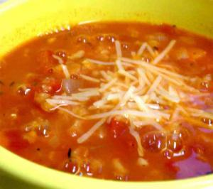 LENTIL SOUP WITH SPAGHETTI