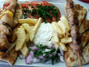 Suvlaki with Tzatziki