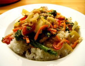 Chinese Pork & Vegetable Stir Fry